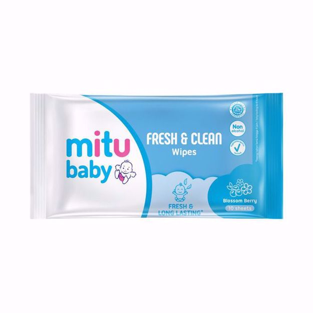 Mitu Baby Wipes Blossom Berry 10 Sheets